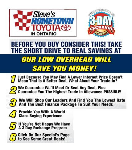 Real Savings - Steve's Hometown Toyota