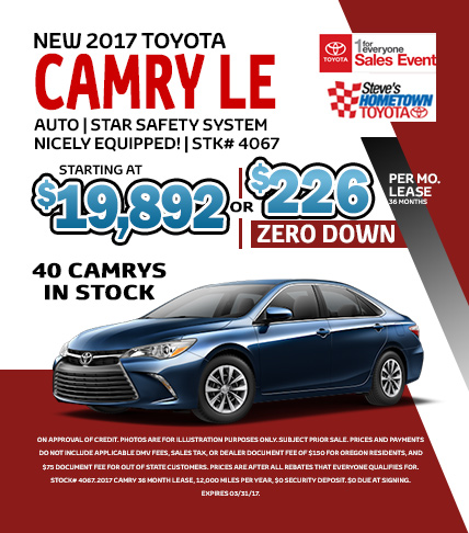 1 For Everyone Sales Event - Camry