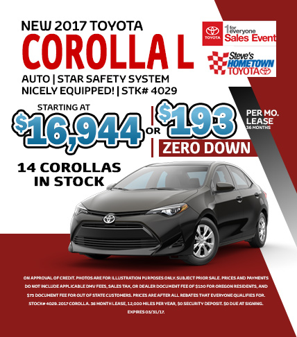 1 For Everyone Sales Event - Corolla