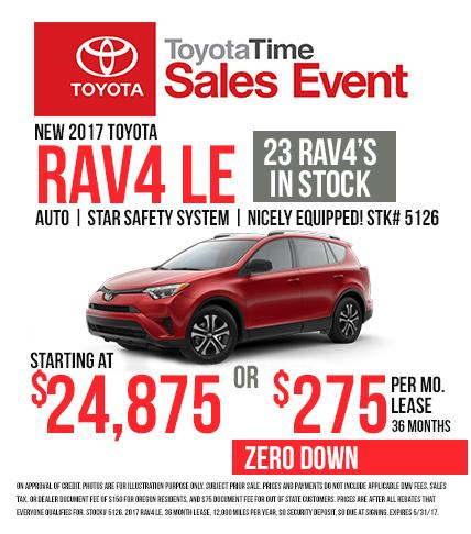 2017 Toyota RAV4 - Toyota Time Sales Event