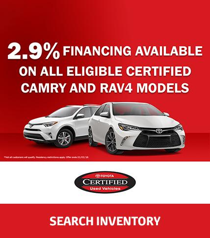 Toyota Certified Inventory Specials