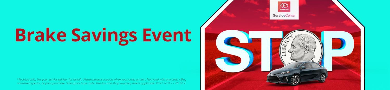 Toyota Brake Savings Event