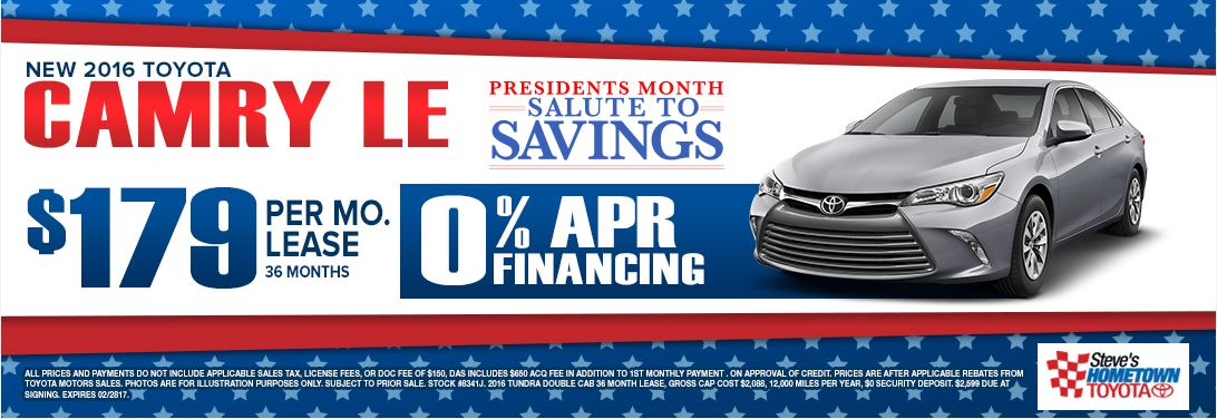 2016 Camry - President's Month Salute to Savings