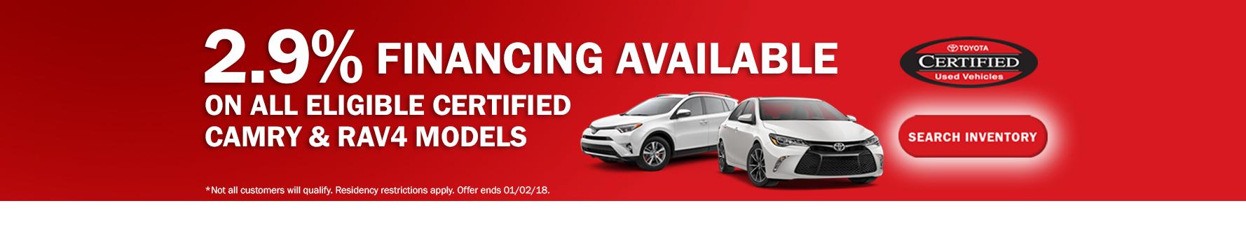Toyota Certified APR Special