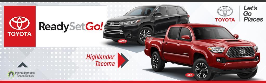 Toyota Highlander and Tacoma Specials
