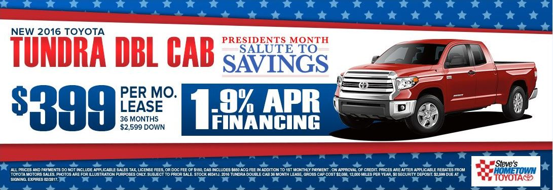 2016 Toyota Tundra - President's Month Salute to Savings
