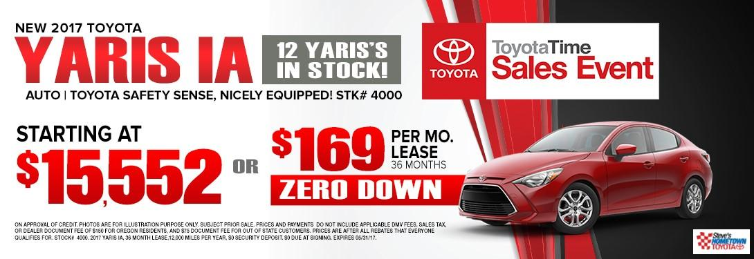 2017 Toyota Yaris - Toyota Time Sales Event