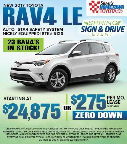 Spring Sign & Drive Event - 2017 RAV4
