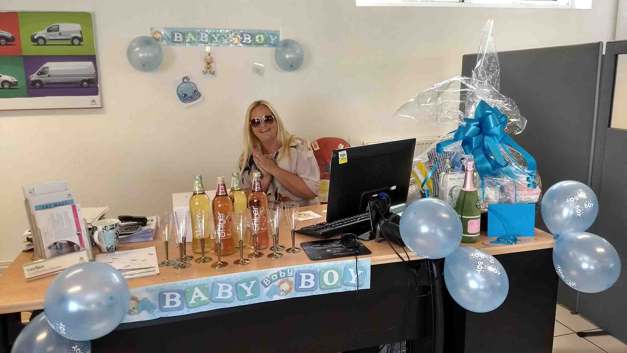 Lucy Leasing is having a baby