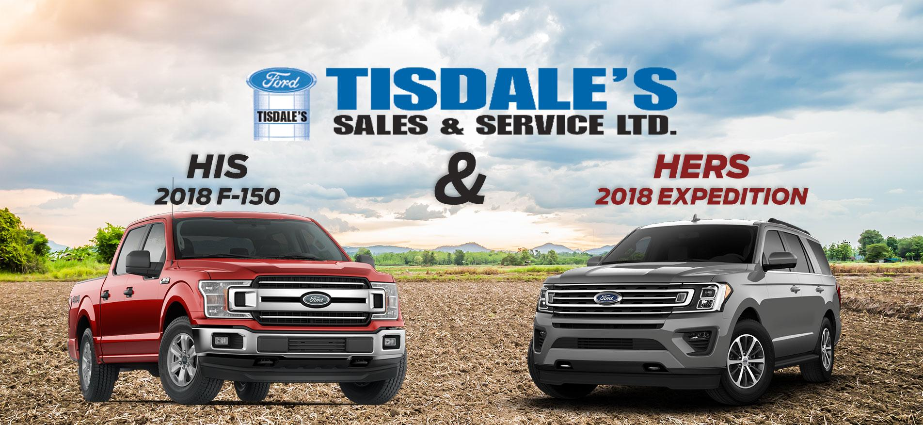 His 2018 F-150 & Hers 2018 Expedition Tisdales Sales and Service