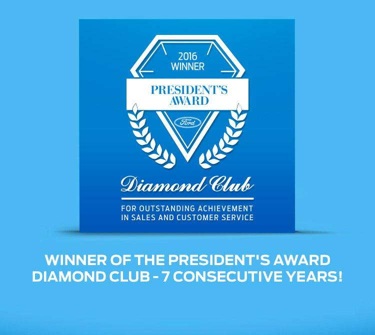 President's award Two-Service Ford